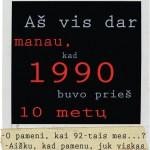 kada buvo 1990