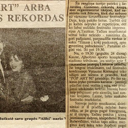 Lietuviškos pop muzikos festivalis POP ART 1991