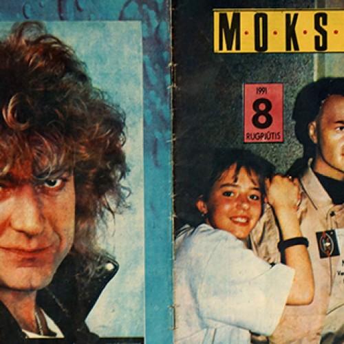 """Ką žurnalas """"Moksleivis"""" rašė 1991 metais?"""