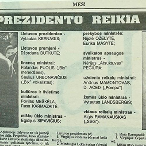 Kas 1992-aisiais galėjo tapti Lietuvos prezidentu?