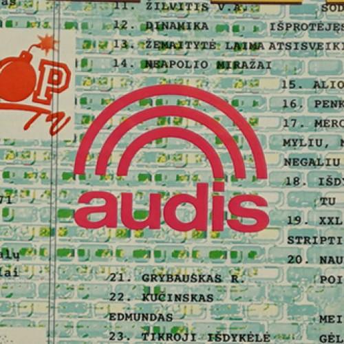 Lietuviškos muzikos topų įvairovė 1998 metais
