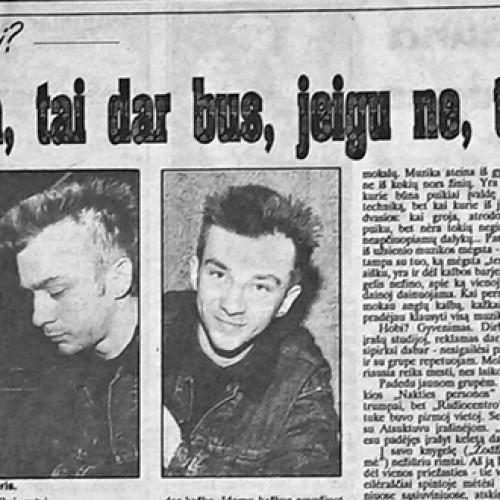 Ką 1992 metais mąstė Andrius Mamontovas?