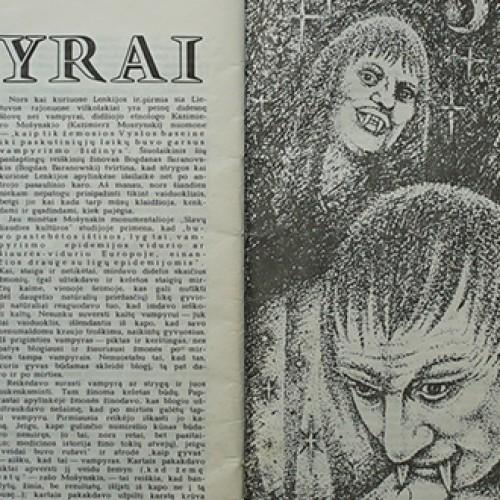 Žurnalo FD publikacija apie vampyrus